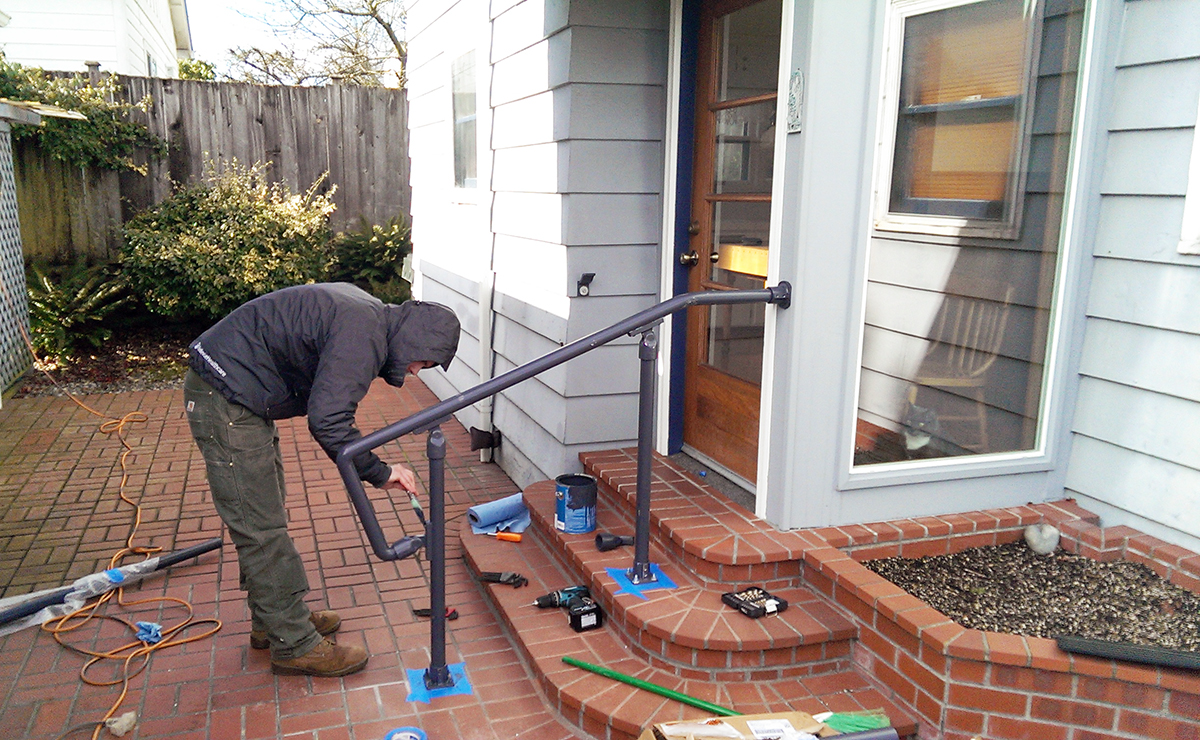 Custom Handrail Installation